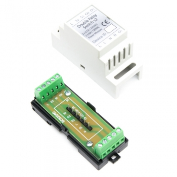 Haseman DIN Enclosure for Fibaro FGS-223 Double relay switch v.2